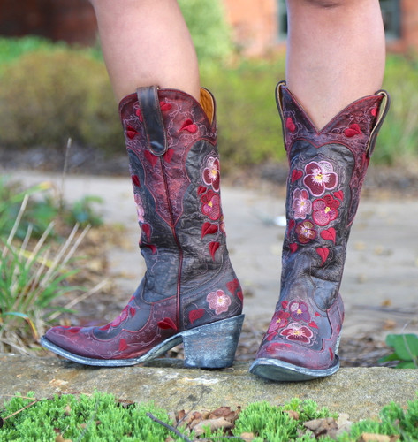 Old Gringo Pansy Chocolate Boots L2621-1 Picture