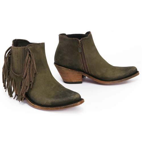 Liberty Black Military Green Side Fringe LB712948
