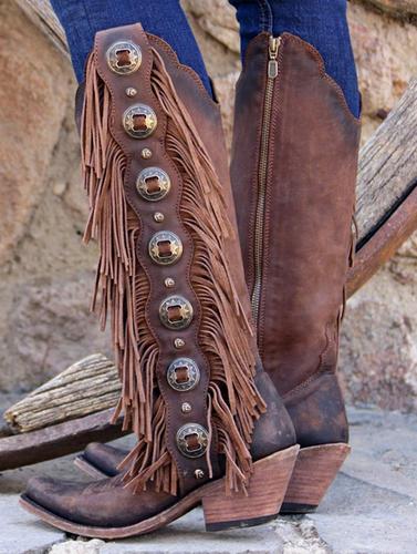 Liberty Black Tall Fringe Concho T Moro Stonewashed LB712953