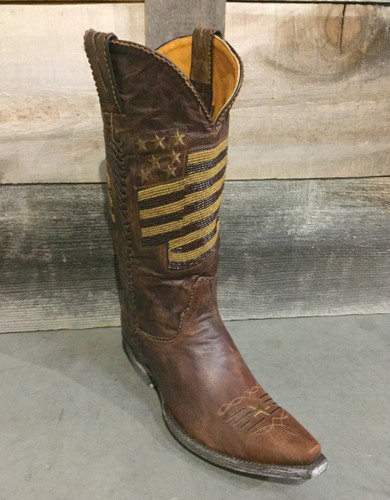 Old Gringo Eleanor Brass American Flag Bead Boots L2961-3 Front Picture