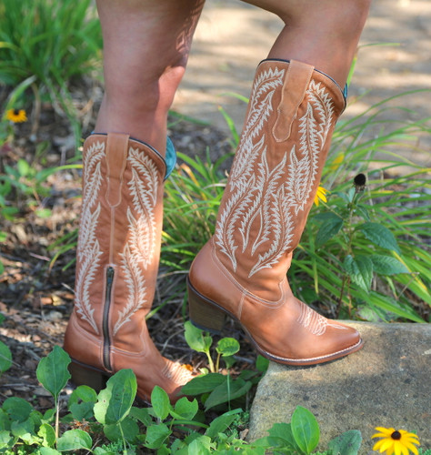Corral Cognac Embroidery Tall Top Boots E1319 Picture