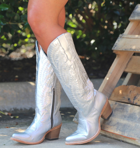 Corral Silver Embroidery Tall Top Boots E1321 Picture