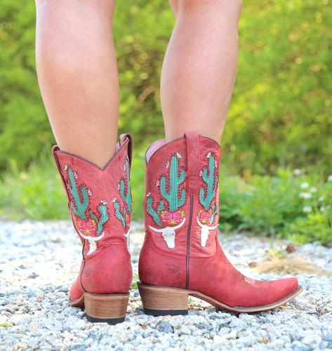 Junk Gypsy by Lane Bramble Rose in Red Boots JG0015D Heel