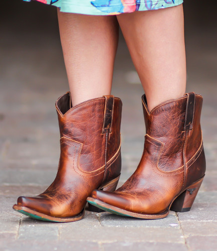 Lane Julia Shortie Cognac Boots LB0358F Picture