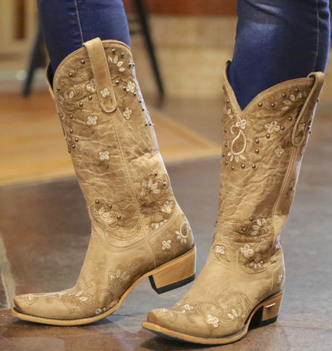 Lane Sweet Paisley Bone Boots LB0349B Picture