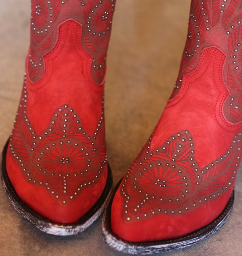 Old Gringo Valentine Red Boots L2774-2 Toe