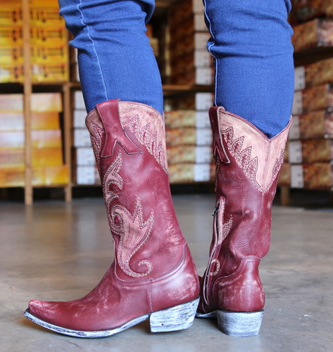 Old Gringo Marsell Rustic Wine Boots L2832-2 Heel