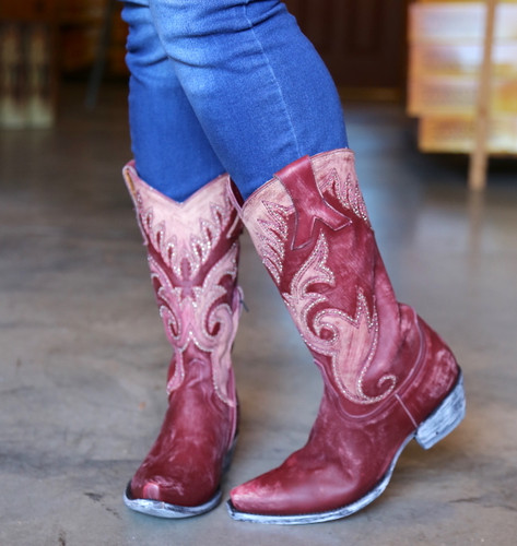 Old Gringo Marsell Rustic Wine Boots L2832-2 Photo