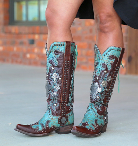 Double D by Old Gringo Ammunition Turquoise Boots DDL001-1 Picture