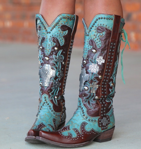 Double D by Old Gringo Ammunition Turquoise Boots DDL001-1 Photo
