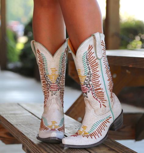 Old Gringo Harper Milk Boots L2971-2 Toe