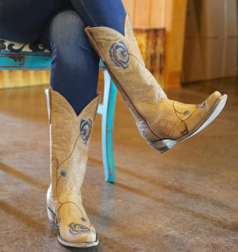 Old Gringo Marsha Bone Blue Boots L427-66 Photo