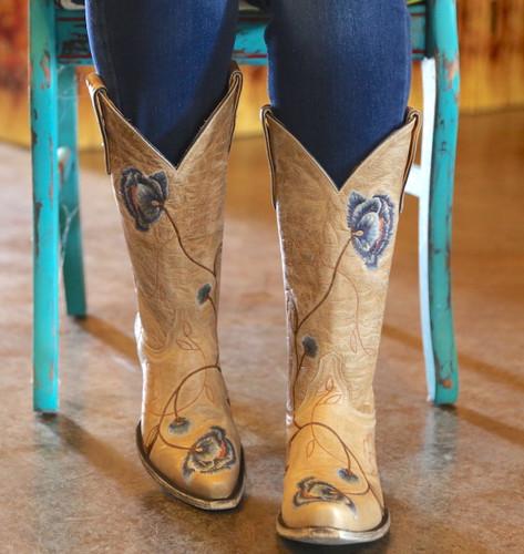 Old Gringo Marsha Bone Blue Boots L427-66 Front