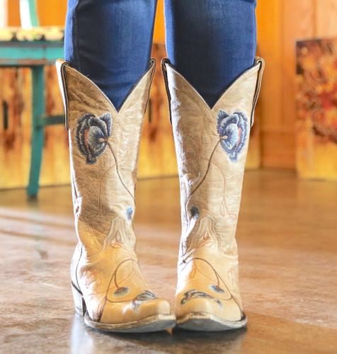 Old Gringo Marsha Bone Blue Boots L427-66 Image