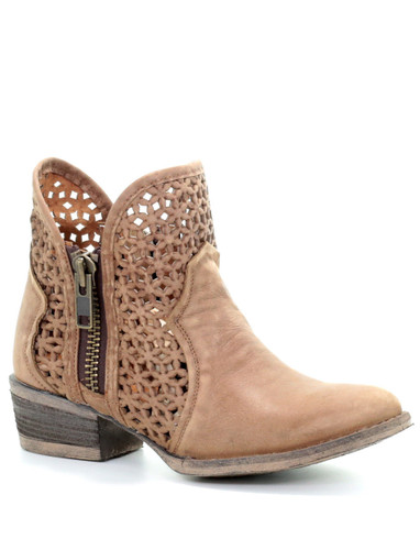 Corral Camel Cutout Shortie Boots Q5020 Picture