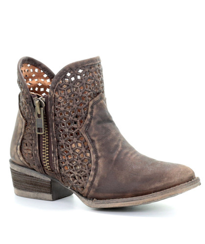 Corral Brown Cutout Shortie Boots Q5019 Picture