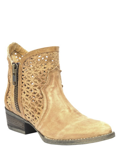 Corral Tan Cutout Shortie Boots Q0002 Picture