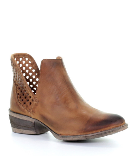 Corral Brown Cutout Shortie Boots Q5027 Picture