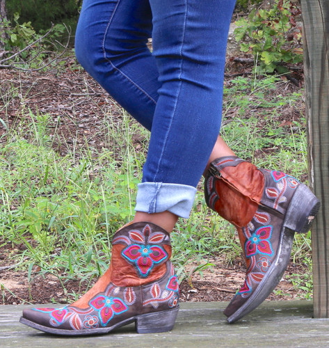 Old Gringo Marrione Zipper Mango Chocolate Boots L1036-8 Picture