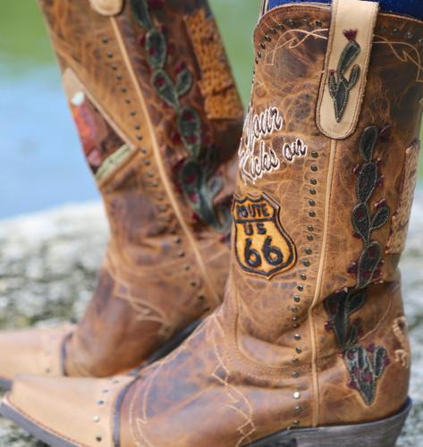 Old Gringo Route 66 Saddle Boots L3056-2 Picture