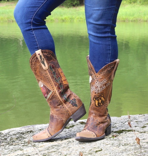 Old Gringo Route 66 Saddle Boots L3056-2 Photo
