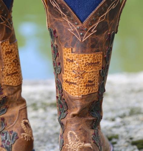 Old Gringo Route 66 Saddle Boots L3056-2 Detail