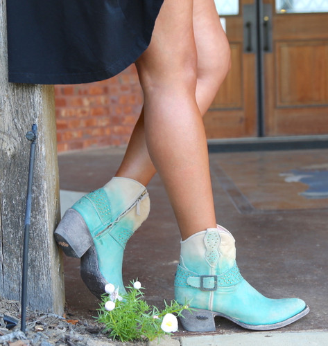 Miss Macie Fine-N-Dandy Turquoise Boots U8000-02 Picture