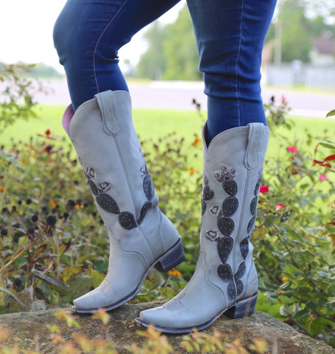 Junk Gypsy by Lane Hard To Handle Grey Cactus Boots JG0012D Image