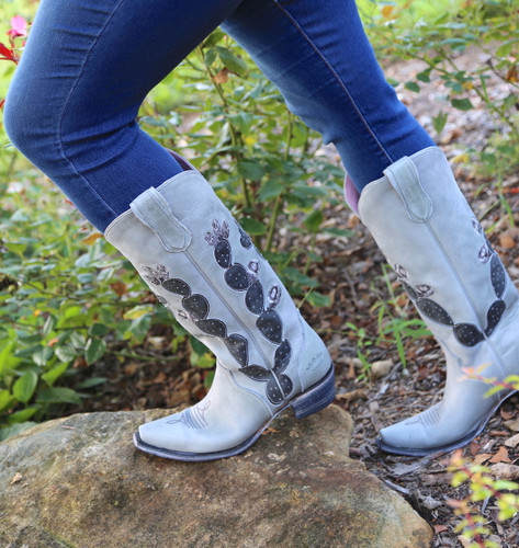 Junk Gypsy by Lane Hard To Handle Grey Cactus Boots JG0012D Top