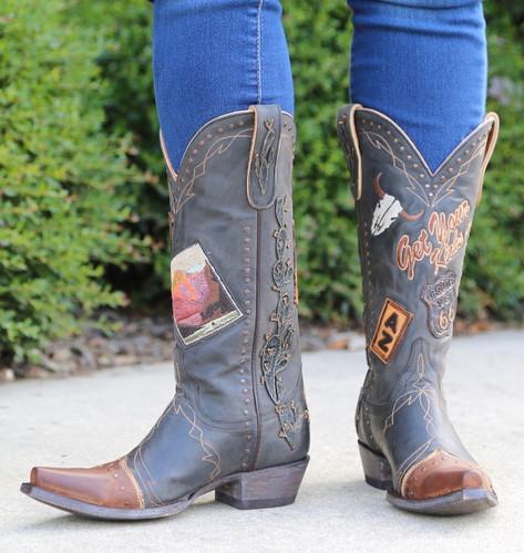 Old Gringo Route 66 Black Boots L3056-1 Image