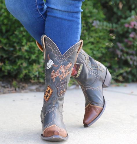 Old Gringo Route 66 Black Boots L3056-1 Front
