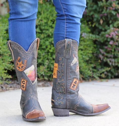 Old Gringo Route 66 Black Boots L3056-1 Photo