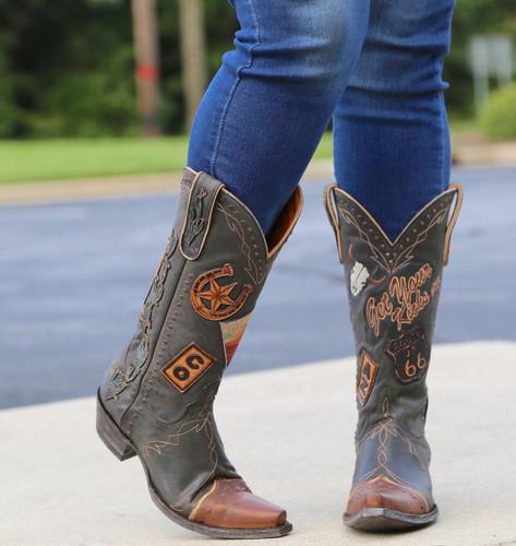 Old Gringo Route 66 Black Boots L3056-1 Kicks On