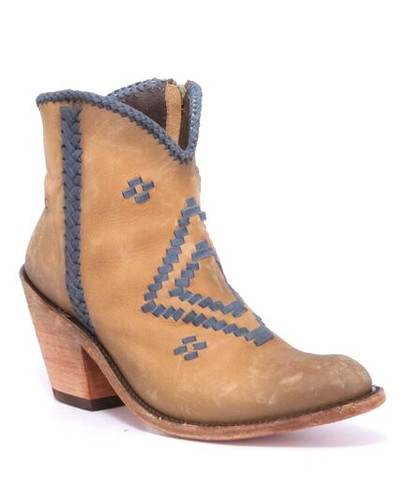 Liberty Black Aztec Zipper Boot Hueso Claro LB712376