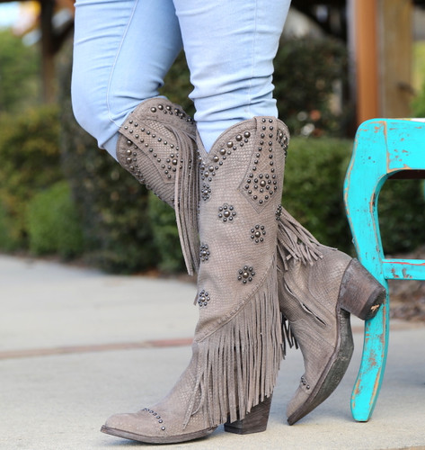 Old Gringo Savannah Tall Grey Boots L3089-2 Picture