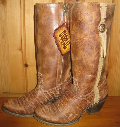 Corral Boots Vintage Cognac Deer Zipper C1610
