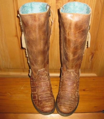 Corral Cognac Deer Zipper Boots