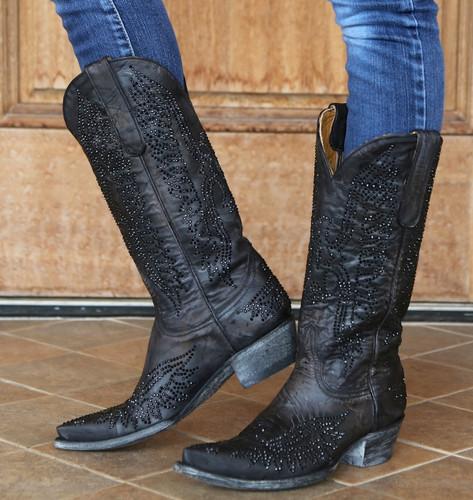 Old Gringo Eagle Crystal Black Boots L443-4 Picture