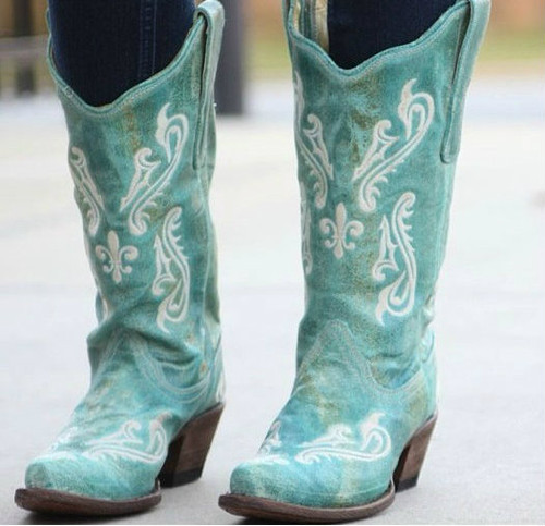 Corral Turquoise Blue Cortez Boots R1973