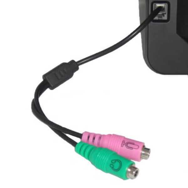 PC35-RJ9a Connected to phone