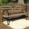 6' Bench with Recycled Plastic Lumber slats, included a plaque mounted.