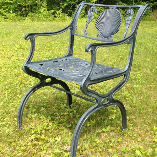 Seahorse and Shell Arm Chair