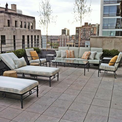 Neoclassical Grand Sofa Four Seats