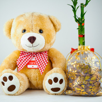Soft Teddy Bear with Mix Nuts 400gm - FOR AUSTRALIA