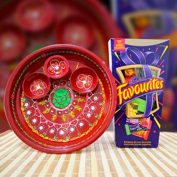 Puja Thali & Cadbury Favourites - FOR AUSTRALIA