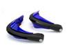 BLUE Motorbike Quad Bike Handguards Protectors LED Daytime Running Lights DRL