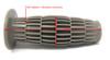 "Cafe Racer & Custom Motorcycle Motorbike Soft Barrel 22mm 7/8"" Grey Hand Grips"