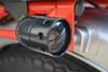 Black Aluminium Cafe Racer / Custom Bike Drilled Indicators fits most Motorbikes