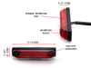 """4"""" / 100mm Flush Mount Motorbike LED Stop / Tail Light for Streetfighters, Cafe Racers, Scramblers and Brat Bikes"""