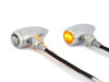High Quality Chrome Aluminium Bullet LED Retro Vintage Custom Motorbike Indicators